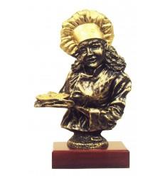 Trofeo de resina figura cocinera
