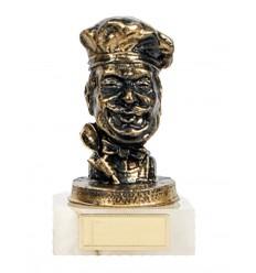 Trofeo de resina cara cheff.