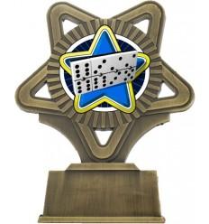 Trofeo estrella oro viejo