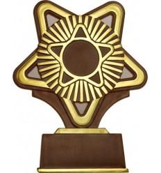Trofeo marron estrella