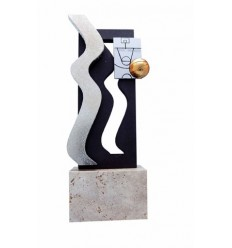 Trofeo resina diseño plateado ondas