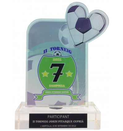 Trofeo metacrilato Pitarque