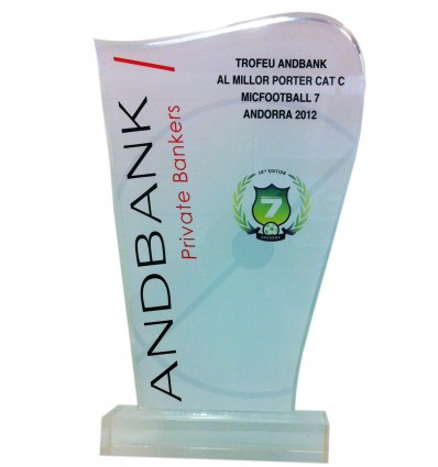 Trofeo metacrilato Adbank