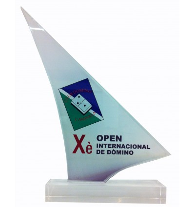 Trofeo metacrilato Domino