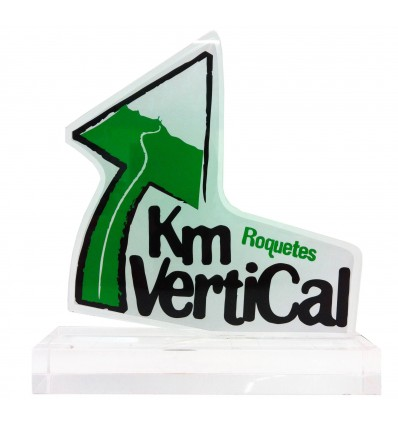 Trofeo metacrilato km vertical