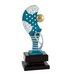 Trofeo padel Pala y pelota a Color