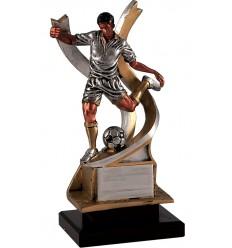 Trofeo fútbol - Jugador con acción de chutar