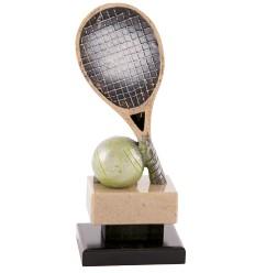 Trofeo tenis - raqueta y pelota en color