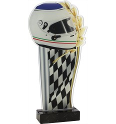 Trofeo casco y bandera