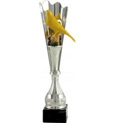 Trofeo con canario amarillo