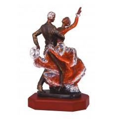Trofeo pareja bailando sevillanas
