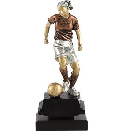 Trofeo fútbol femenino - Jugadora con balón