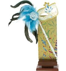Trofeo carnaval con máscara veneciana