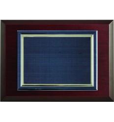 Placa aluminio azul
