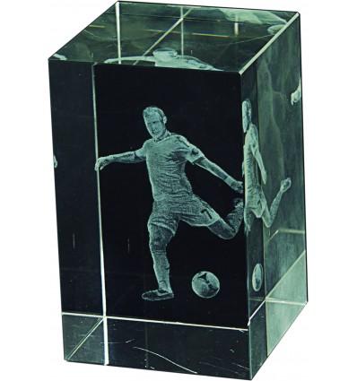 Trofeo futbol cristal 3D