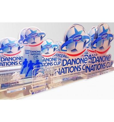 Trofeo metacrilato Danone cup