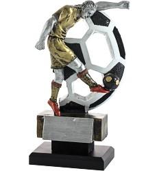 Trofeo fútbol pelota y jugador