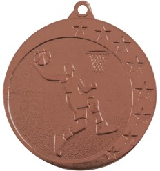 MEDALLA 50MM BALONCESTO BRONZE