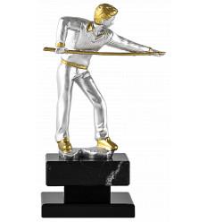 Trofeo billar jugador de resina