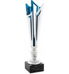 Copa clásica plateada y azul diseño moderno