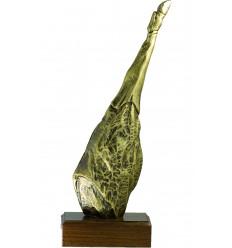 Trofeo de resina jamon oro