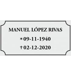 Placa Buzon plata/negra 12*8cm