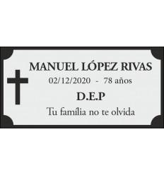 Placa cementerio 10x5cm