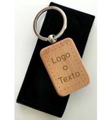 Llavero madera personalizable