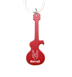 Llavero aluminio guitarra personalizable