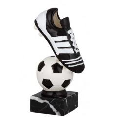 Trofeo futbol bota y pelota
